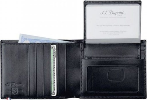 Line D - Billfold For Credit Cards & Pass - Elysée Black