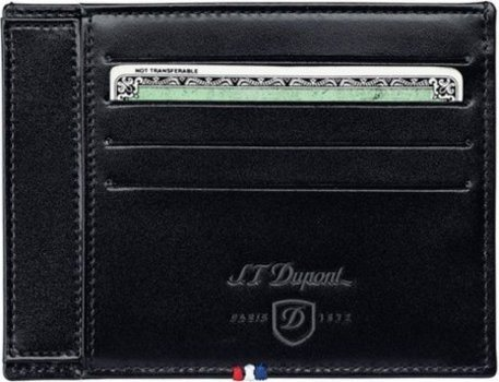 Line D Id Paper And Credit Catds Holder - Black Elysée