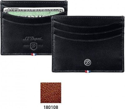 Line D Credit Card Holder – Brown Elysée