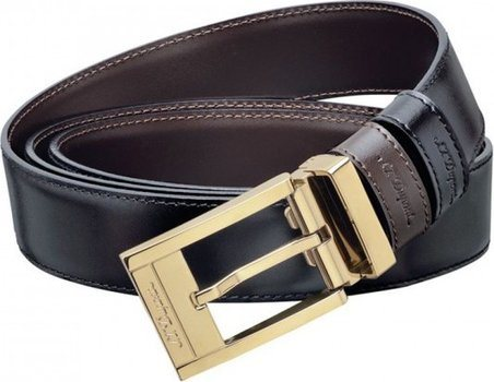 Line D Belt Business Reversible Square Gold