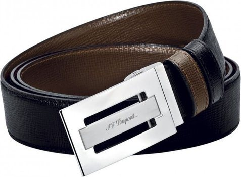 Line D Belt Business Reversible Grained Delta Box